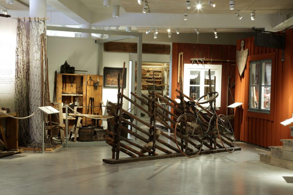 En del av utställningen På väg i 1800-talets Kronoberg